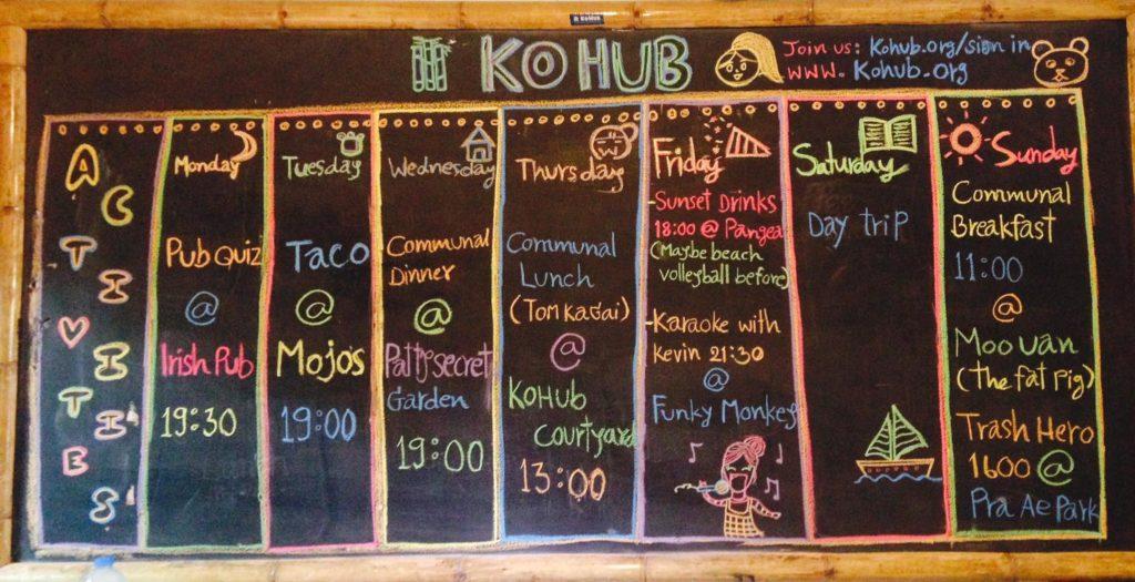 KoHub Timetable