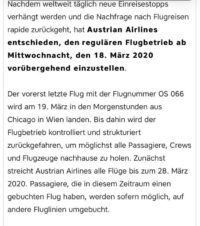 Austrian Airlines - big decision