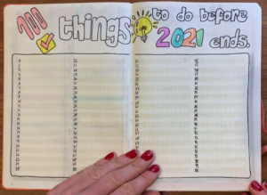 100 things to do before 2021 ends - bullet journal for 2021