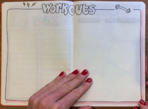 Workouts - bullet journal for 2021
